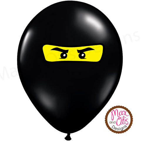 Ninjago Balloon Stickers - Max & Otis Designs