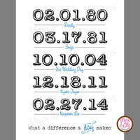 What a difference a day makes (Personalized PDF) - Max & Otis Designs