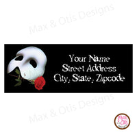 Printable Address Labels - Phantom of the Opera - Max & Otis Designs