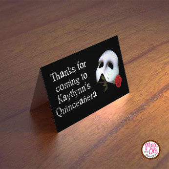 Printable Tent Cards - Phantom of the Opera (editable PDF)