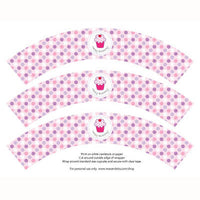 photo relating to Printable Cupcake Wrappers titled Printable Cupcake Wrappers - Birthday Cupcake (crimson red dot)