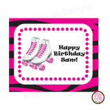 Printable Hershey Nuggets Stickers - Roller Skate (Pink) - Max & Otis Designs