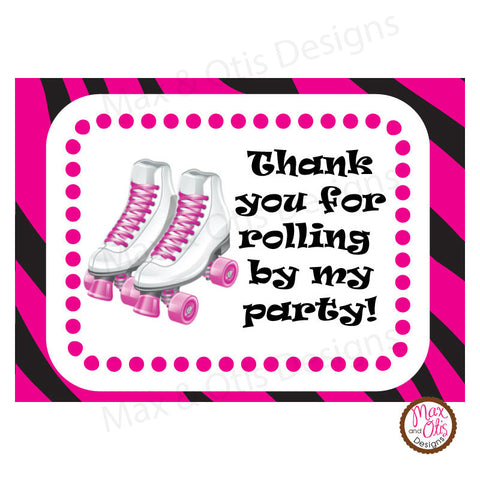 Printable Hershey Nuggets Stickers - Roller Skate (Pink)