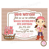 Pirate Party (Pink) - Custom Invitation Printable - Max & Otis Designs