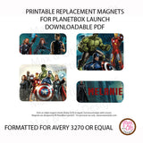PlanetBox Launch Personalized Magnets - Avengers - Max & Otis Designs