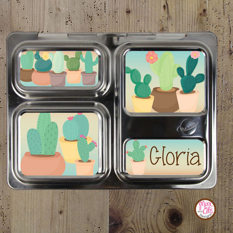 PlanetBox Launch Personalized Magnets - Cactus - Max & Otis Designs