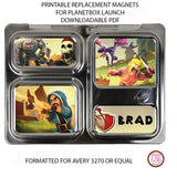PlanetBox Launch Personalized Magnets - Clash of Clans - Max & Otis Designs