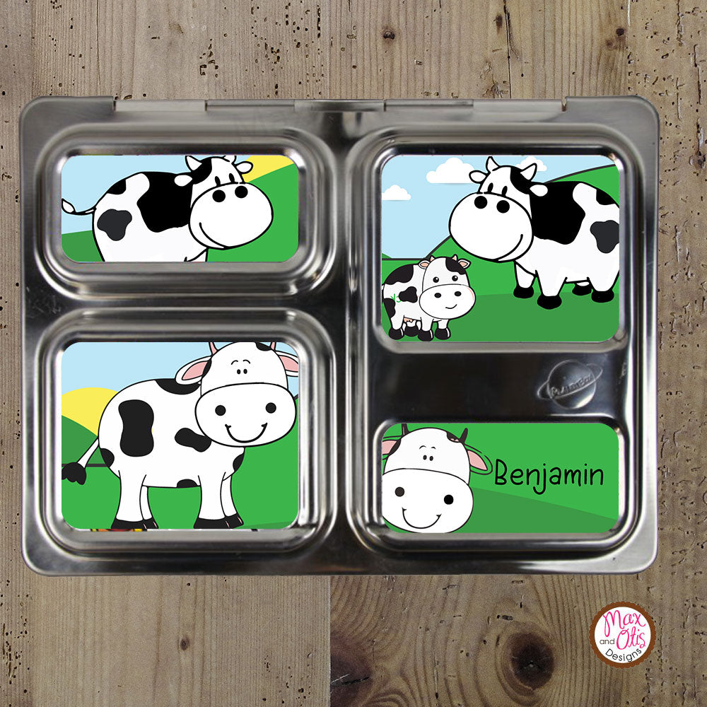 PlanetBox Launch Personalized Magnets - Cows - Max & Otis Designs