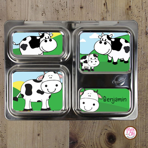 PlanetBox Launch Personalized Magnets - Cows
