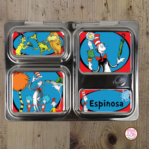PlanetBox Launch Personalized Magnets - Dr. Seuss Cat in the Hat - Max & Otis Designs