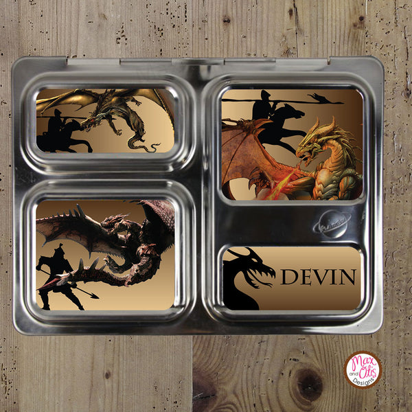 PlanetBox Launch Personalized Magnets - Dragon - Max & Otis Designs