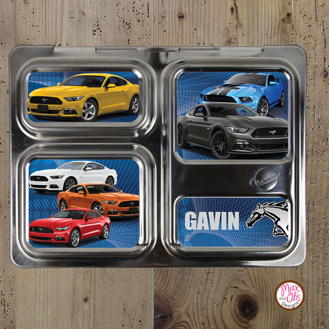 PlanetBox Launch Personalized Magnets - Ford Mustangs - Max & Otis Designs