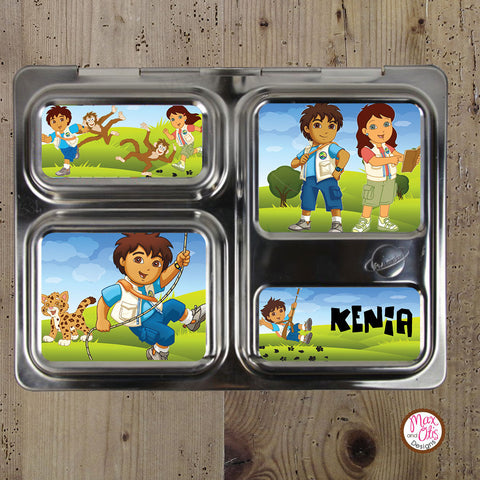 PlanetBox Launch Personalized Magnets - Go Diego Go! - Max & Otis Designs