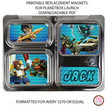 PlanetBox Launch Personalized Magnets - Lego Chima - Max & Otis Designs