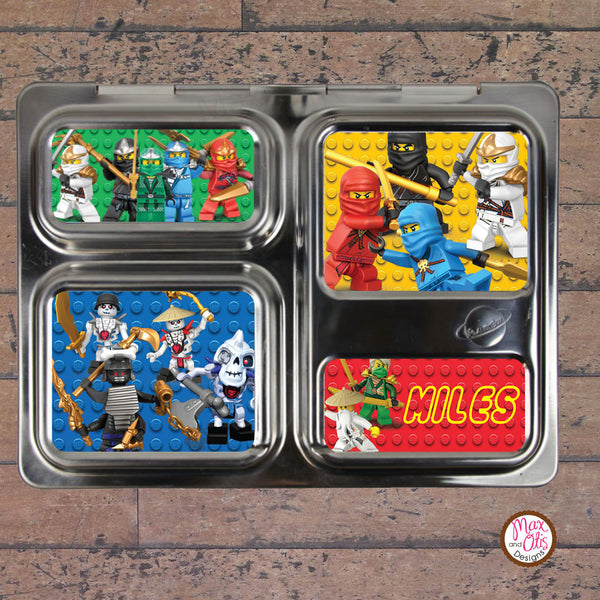 PlanetBox Launch Personalized Magnets - Lego Ninjago - Max & Otis Designs