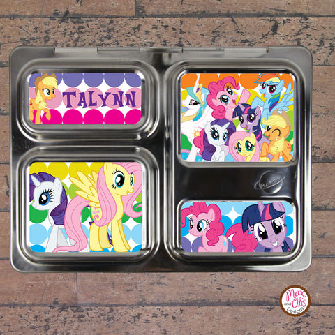 PlanetBox Launch Personalized Magnets - My Little Pony - Max & Otis Designs