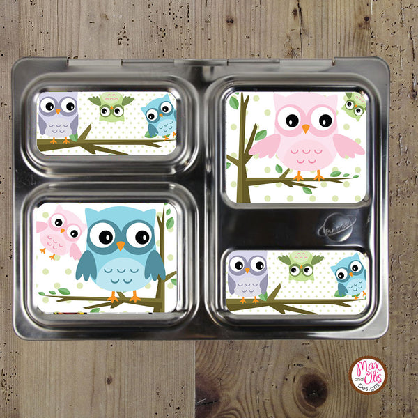 PlanetBox Launch Personalized Magnets - Owls - Max & Otis Designs