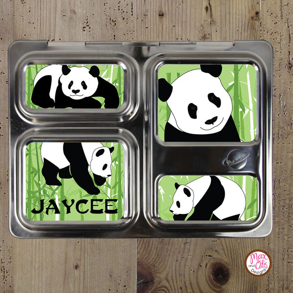 PlanetBox Launch Personalized Magnets - Panda - Max & Otis Designs