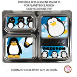 PlanetBox Launch Personalized Magnets - Penguin - Max & Otis Designs