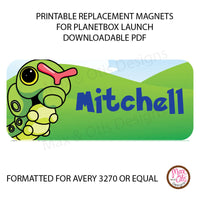 PlanetBox Launch Personalized Magnets - Pokemon - Max & Otis Designs