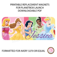 PlanetBox Launch Personalized Magnets - Disney Princess - Max & Otis Designs