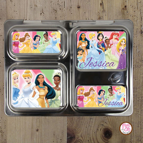 PlanetBox Launch Personalized Magnets - Disney Princesses - Max & Otis Designs