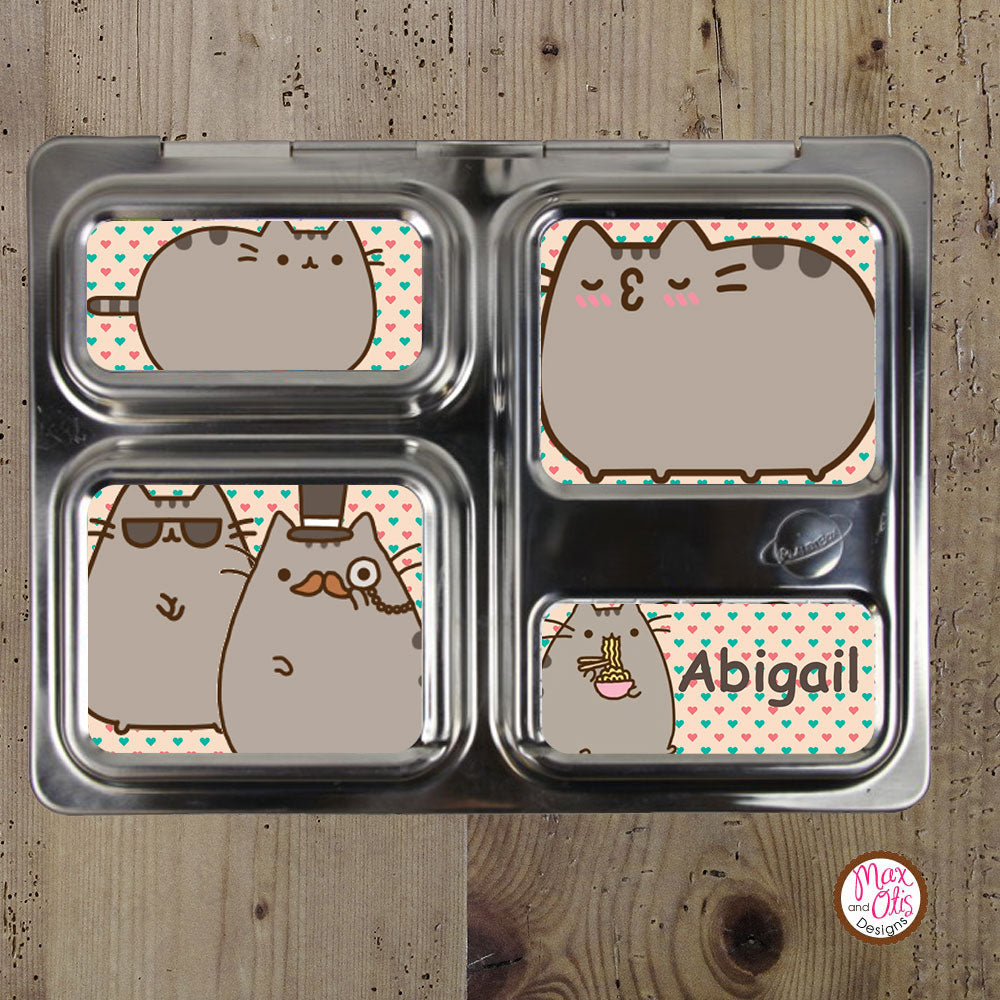 PlanetBox Launch Personalized Magnets - Pusheen - Max & Otis Designs