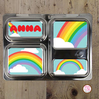 PlanetBox Launch Personalized Magnets - Rainbow - Max & Otis Designs
