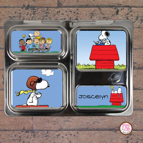 PlanetBox Launch Personalized Magnets - Snoopy - Max & Otis Designs