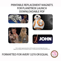 PlanetBox Launch Personalized Magnets - Star Wars VII - Max & Otis Designs