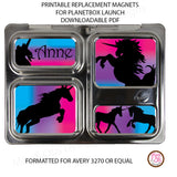 PlanetBox Launch Personalized Magnets - Unicorn - Max & Otis Designs