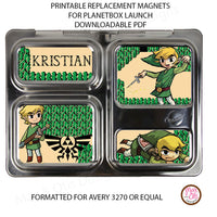PlanetBox Launch Personalized Magnets - Legend of Zelda - Max & Otis Designs
