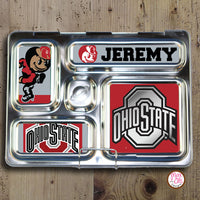 PlanetBox Rover Personalized Magnets - Ohio State Buckeyes - Max & Otis Designs