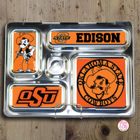 PlanetBox Rover Personalized Magnets - Oklahoma State Cowboys - Max & Otis Designs
