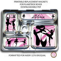PlanetBox Rover Personalized Magnets - Ballet - Max & Otis Designs