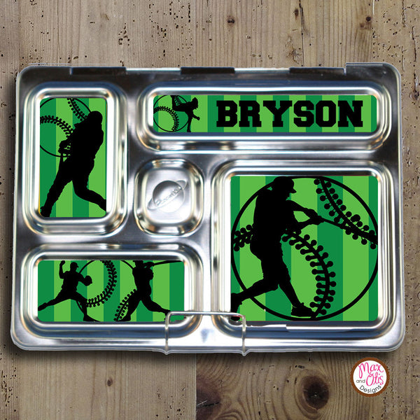 PlanetBox Rover Personalized Magnets - Baseball - Max & Otis Designs