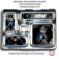 PlanetBox Rover Personalized Magnets - Batman - Max & Otis Designs