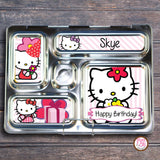 PlanetBox Rover Personalized Magnets - Happy Birthday Hello Kitty - Max & Otis Designs