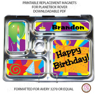PlanetBox Rover Personalized Magnets - Happy Birthday - Max & Otis Designs