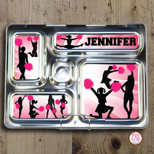 PlanetBox Rover Personalized Magnets - Cheerleader (Pink) - Max & Otis Designs