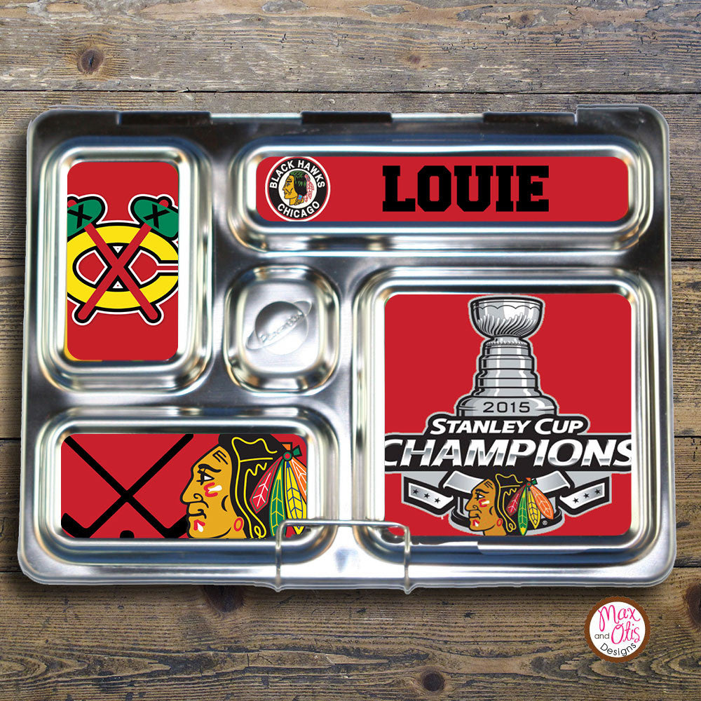 PlanetBox Rover Personalized Magnets - Chicago Black Hawks - Max & Otis Designs