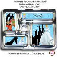 PlanetBox Rover Personalized Magnets - Cinderella - Max & Otis Designs