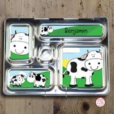 PlanetBox Rover Personalized Magnets - Cows - Max & Otis Designs