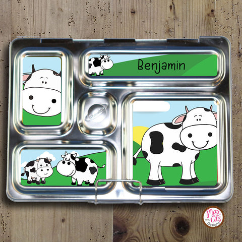 PlanetBox Rover Personalized Magnets - Cows