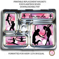 PlanetBox Rover Personalized Magnets - Dancer - Max & Otis Designs