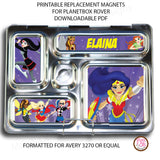 PlanetBox Rover Personalized Magnets - DC Superhero Girls - Max & Otis Designs