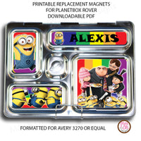 PlanetBox Rover Personalized Magnets - Despicable Me - Max & Otis Designs