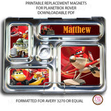 PlanetBox Rover Personalized Magnets - Disney Planes Fire & Rescue - Max & Otis Designs