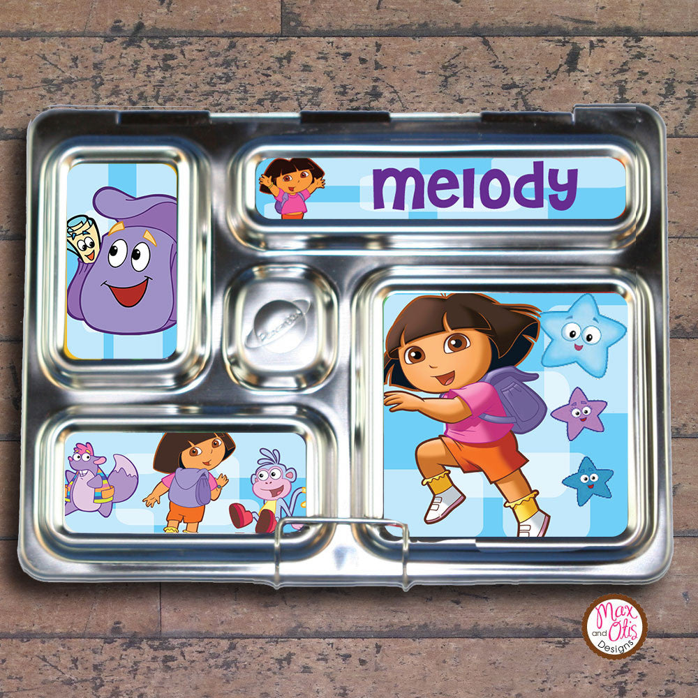 PlanetBox Rover Personalized Magnets - Dora the Explorer - Max & Otis Designs