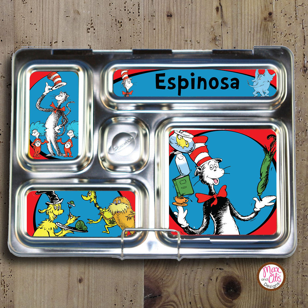 PlanetBox Rover Personalized Magnets - Dr. Seuss Cat in the Hat - Max & Otis Designs